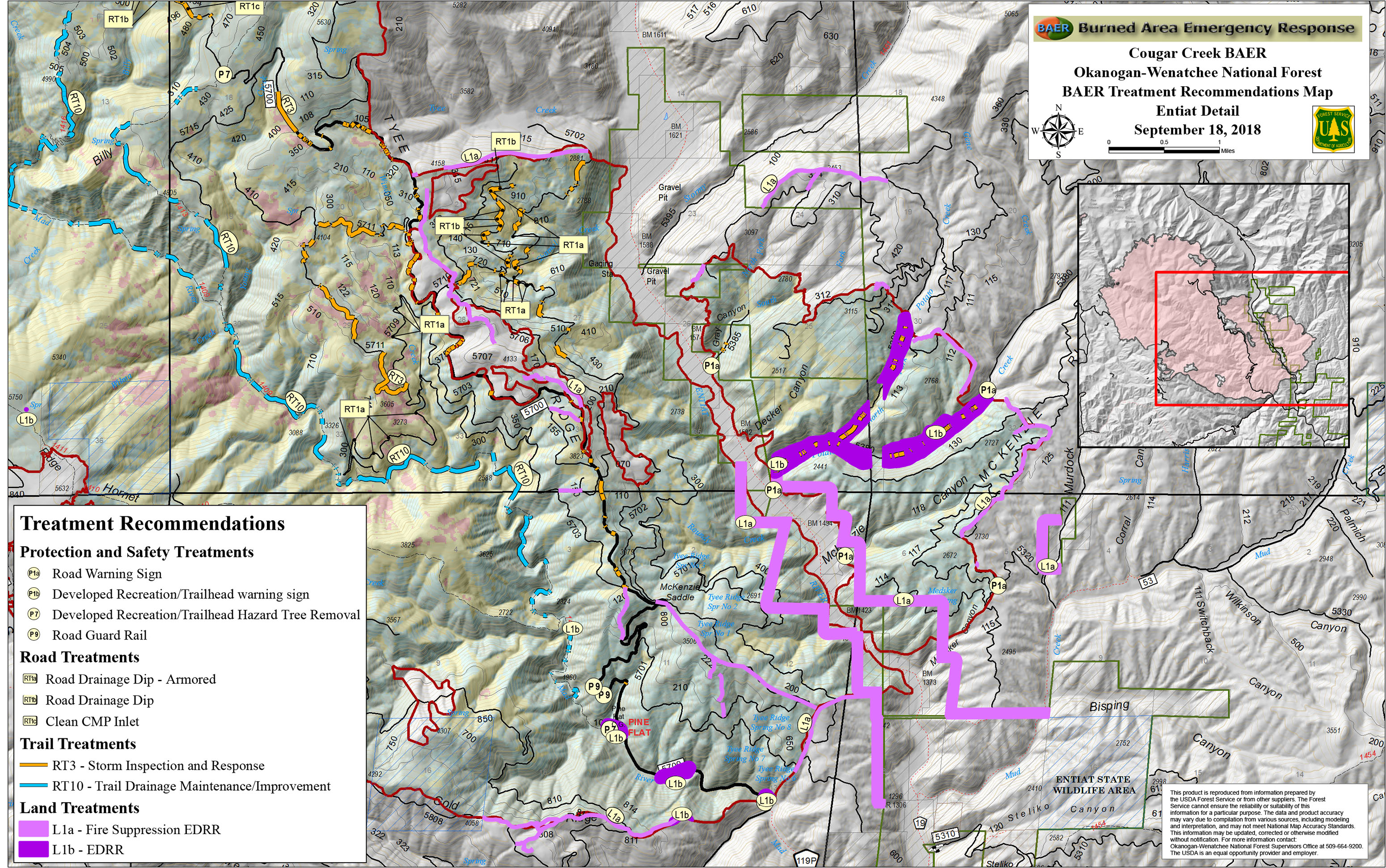 Cougar Creek Fire Central Washington Fire Recovery 2018
